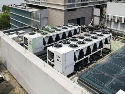 综合体风冷热泵噪音治理